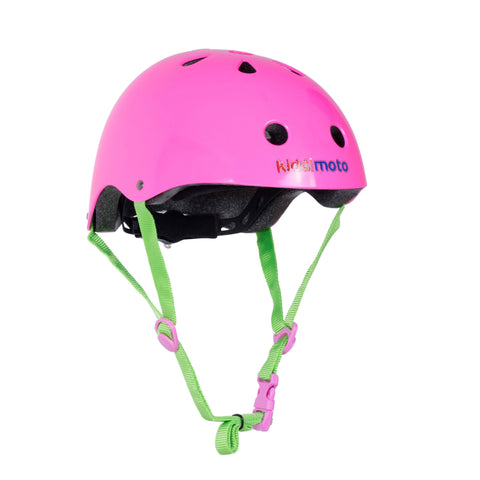 Neon Pink Bicycle Helmet