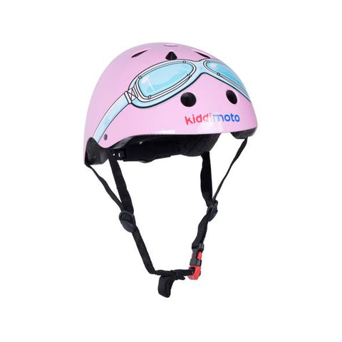 Pink Goggle Bicycle Helmet