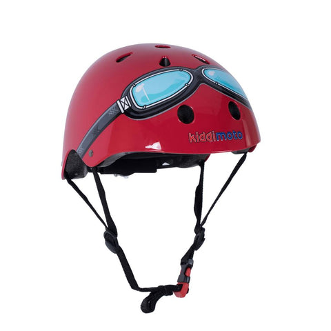 Red Google Bicycle Helmet
