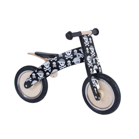 Kurve Wooden Balance Bike - Skullz