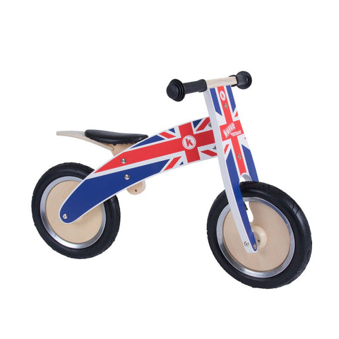 Kurve Wooden Balance Bike - Union Jack