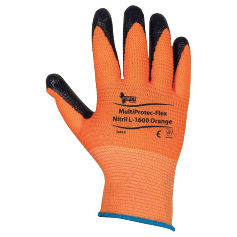 Guante MultiProtec - Flex Orange, L-1600, Talla 7 y 9
