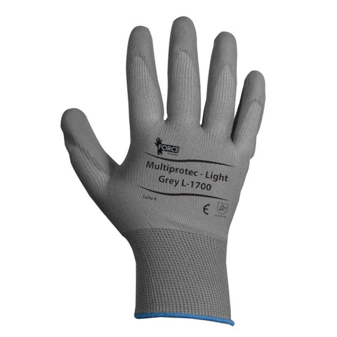 Guante MultiProtec.Flex Light, PU, Grey, L-1700, Talla 7