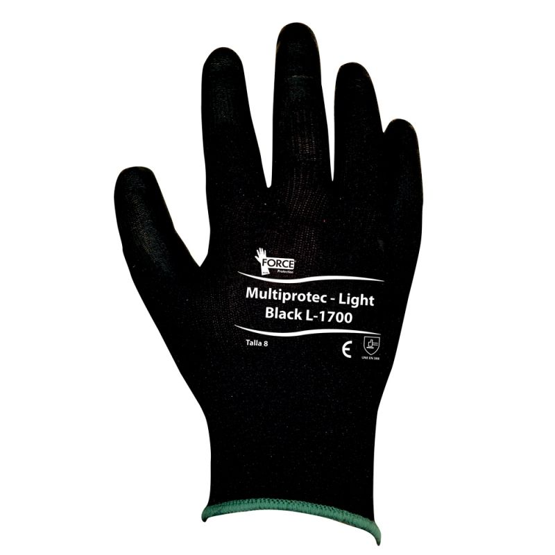 Guante MultiProtec - Flex Light - PU - color negro, L-1700, Talla 9