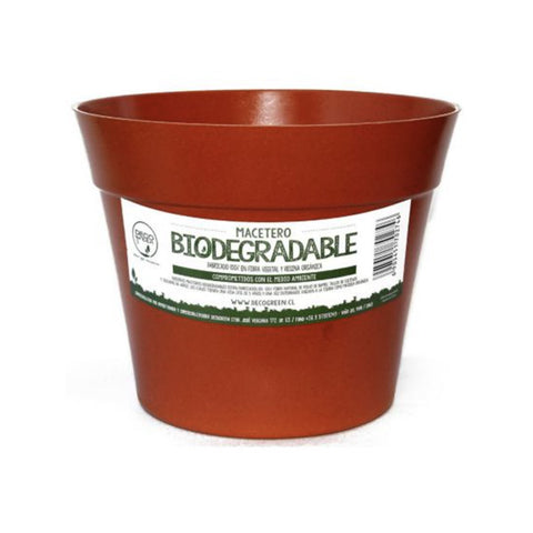 Macetero Biodegradable Clasica Rojo Terracota