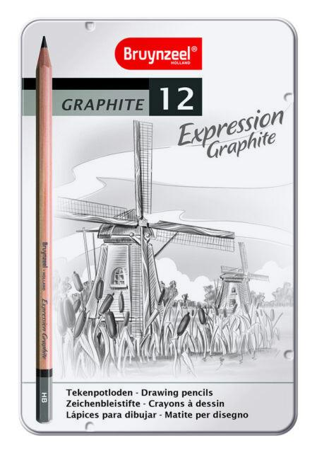 Bruynzeel Expression Graphite Drawing Pencil Set/12