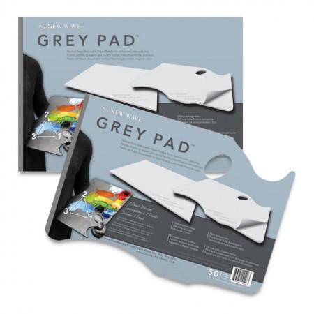 New Wave Grey Paper Palette - Hand Held 11X16