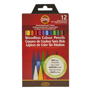 Koh-I-Nor Progresso Woodless Colored Pencil Sets/12