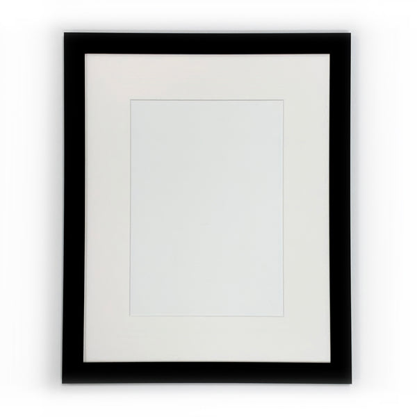 Ready Made Wood Frame - Wide Black 16x20 - Acrylic Glazing