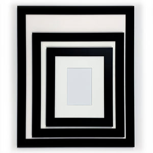 Ready Made Wood Frame - Wide Black 12x14 - Acrylic Glazing