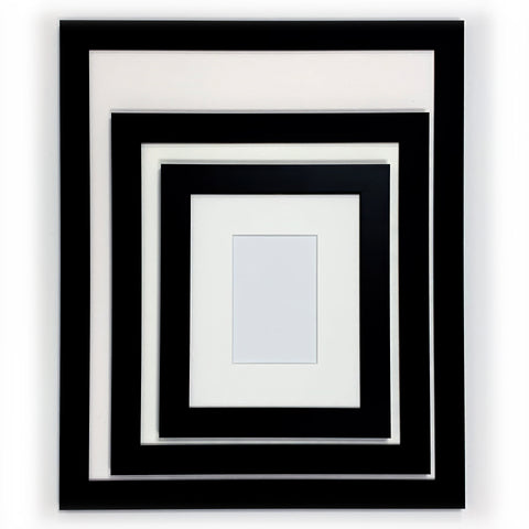 Ready Made Wood Frame - Wide Black 8x10 - Acrylic Glazing