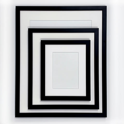 Ready Made Wood Frame - Narrow Black 16x20 - Acrylic Glazing