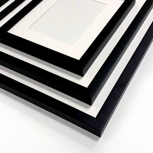 Ready Made Wood Frame - Narrow Black 8x10 - Acrylic Glazing