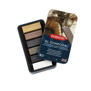 Derwent XL Charcoal Blocks Set/6