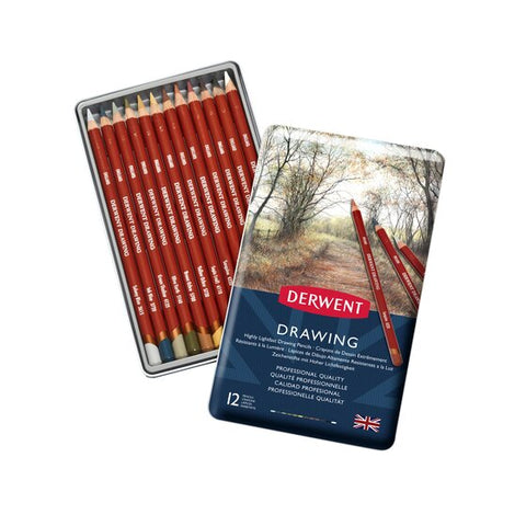 Derwent Soft Drawing Pencils Nature Set/12