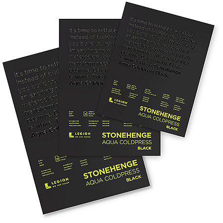Stonehenge Aqua Black Watercolor Pads 7x7