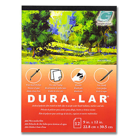 Grafix Wet Media Dura-Lar Pad 12 Sheets 11x14