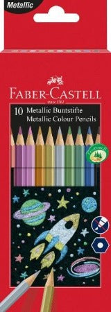 Faber-Castell Metallic Coloured Pencils Set/10