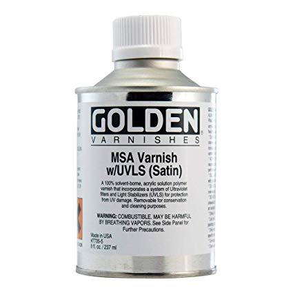 Golden 8oz MSA Varnish Satin
