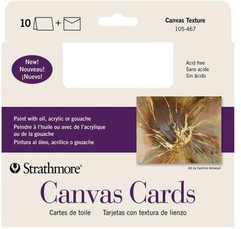 Strathmore Canvas Announcement Cards 5x7 10/PK