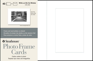Strathmore Photo Frame Cards White 5x7 40/PK
