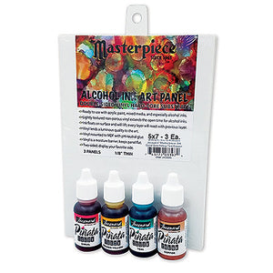 Jacquard Masterpiece Alcohol Ink Panels and 4pc Alcohol Ink