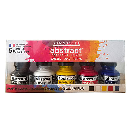 Sennelier Abstract Ink Set Primary 5/set