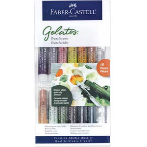 Faber-Castell Watersoluble Crayons Gelatos Set/15 Translucents
