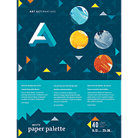 Art Alternative Pallete Paper Pad - White 9x12