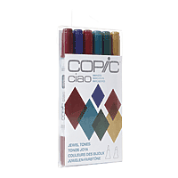 COPIC Ciao Marker Set/6 Jewel Tones