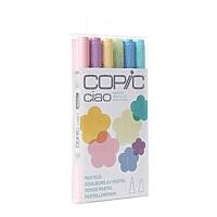 COPIC Ciao Markers Set/6 Pastels