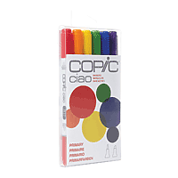 COPIC Ciao Marker Set/6 Primary