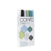 COPIC Ciao Markers Set/6 Sea