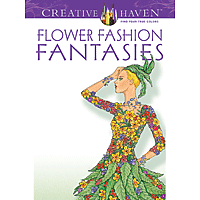 Dover Creative Haven Colouring Book - Flower Fashion Fantasies