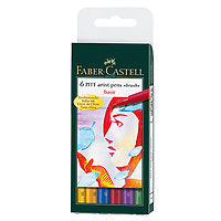 Faber-Castell PITT Artist Brush Pen Basic Set/6