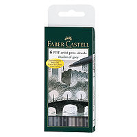 Faber-Castell PITT Artist Brush Pen Shades of Grey Set/6