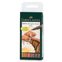Faber-Castell PITT Artist Brush Pen Terra Set/6