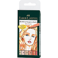 Faber-Castell PITT Artist Brush Pen Light Skin Tones Set/6