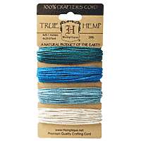 Hemptique - Hemp Cord - Aqua 20lb
