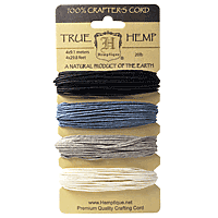 Hemptique - Hemp Cord - Onyx 20lb