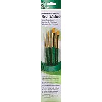 Princeton Golden Taklon Brush Set Round 1, 4, Shader 6, 10