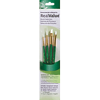 Princeton 4 Brush White Taklon Brush Set Round