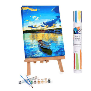Winnie's Picks - Paint by Numbers - Lakeside Boat