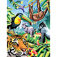 Royal & Langnickel Colour Pencil By Number Jungle Animals