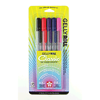 Sakura Gelly Roll Pens - Fine - 5/Colour