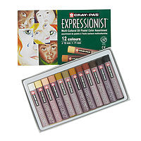 Sakura Cray-Pas Expressionist Oil Pastels 12/Set Multicultural