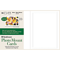 Strathmore Photo Mount Cards Classic Emboss Frame 50pk 5x7
