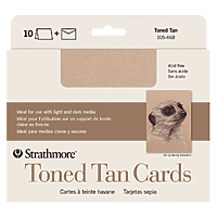 Strathmore Toned Tan Cards 5x6 7/8 10pk