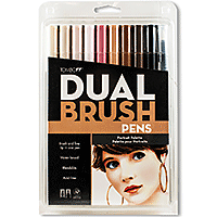 Tombow Duel Brush Marker Set/10 Portrait