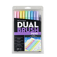 Tombow Duel Brush Marker Set/10 Pastel